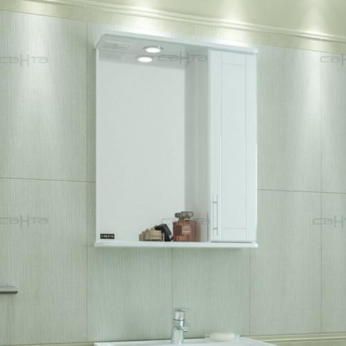 """Зеркало """"Дублин 60"""" свет, правое, СаНта"""