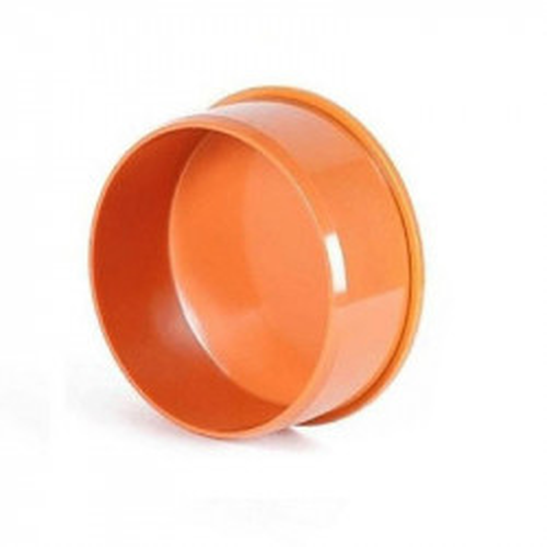 Заглушка ПВХ Ду160 мм (рыжая)