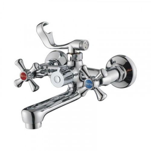 Смеситель ZOLLEN ROSTOCK для ванны,короткий.излив 150,с аксес. (арт. RO61421041)