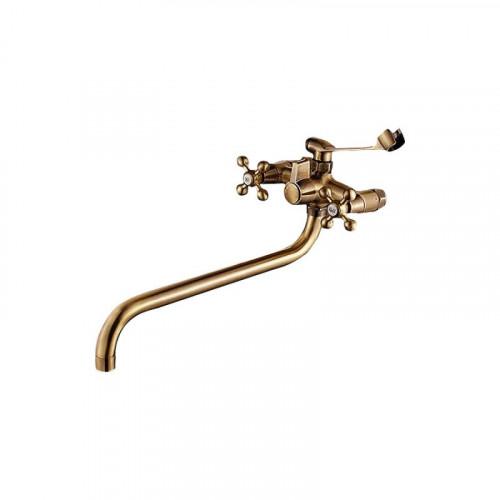 Смеситель ZOLLEN BREMEN для ванны нижний изл.350 мм с аксес. (арт. BR62420641-1)