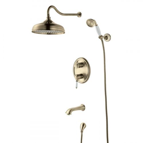 Смеситель Lemark Villa LM4822B для ванны и душа, встраиваемый