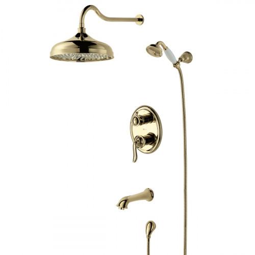 Смеситель Lemark Brava LM4722G для ванны и душа, встраиваемый