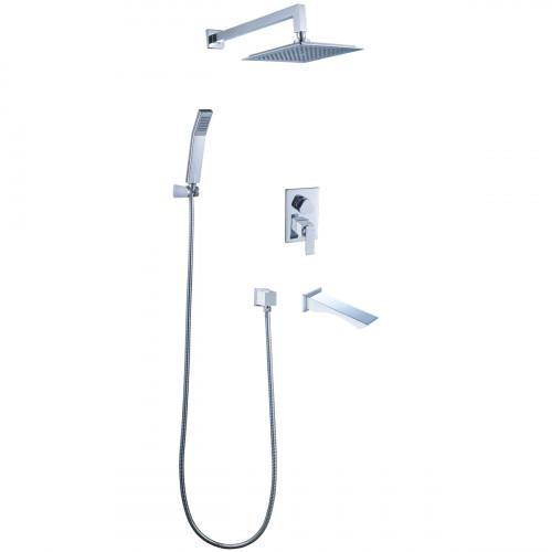 Смеситель Lemark Allegro LM5922CW для ванны и душа, встраиваемый