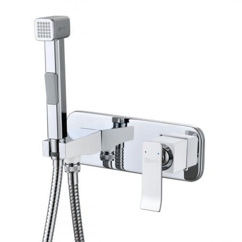 Смеситель Lemark Contest LM5819CW с гигиеническим душем, встраиваемый