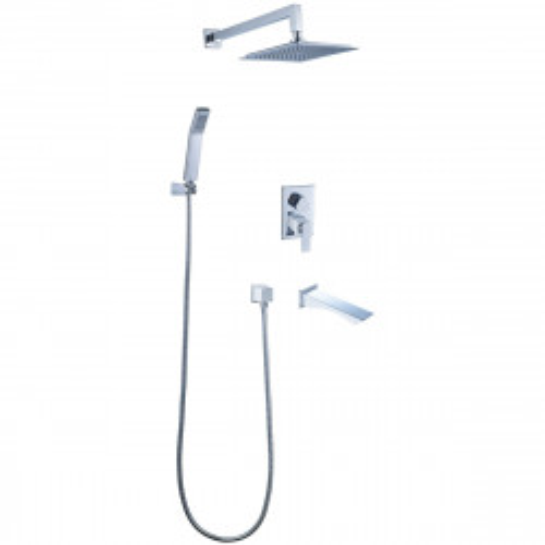 Смеситель Lemark Contest LM5822CW для ванны и душа, встраиваемый