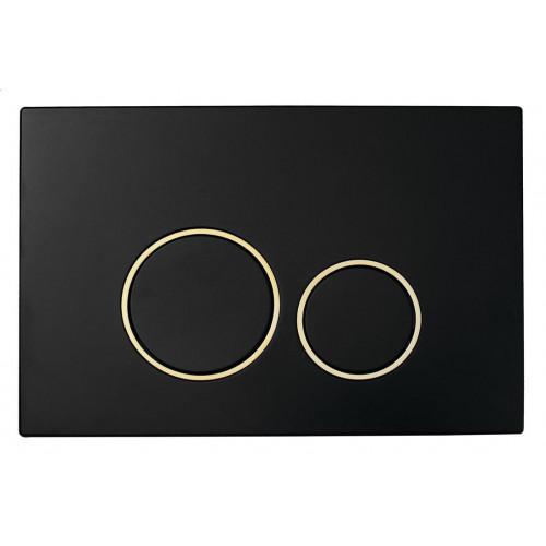 Смывная клавиша, Boheme BLACK GOLD круглая пластик 663