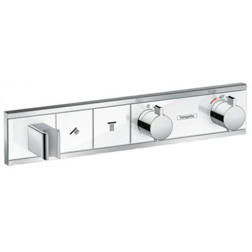 Термостат, скрытого монтажа, для 2 потребителей, RainSelect, белый/хром, Hansgrohe