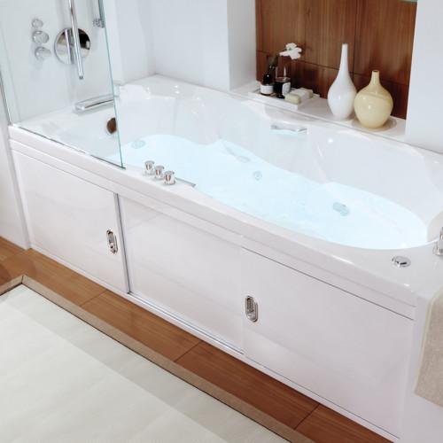 Экран под ванну 160 см, купе Still, МДФ, белый, Alavann