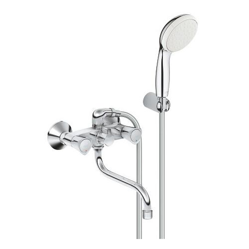 Смеситель для ванны универсальный, с душевым гарнитуром, Costa S, Grohe