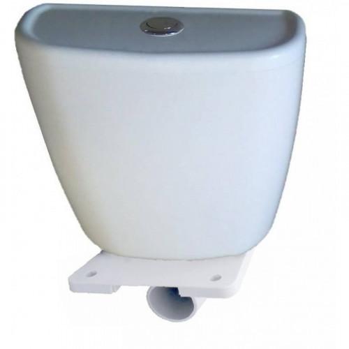 Бачок пластиковый низкого расположения, с полкой, арматура кнопка