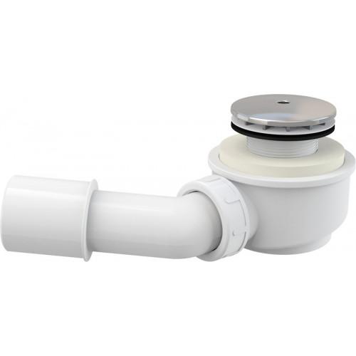 Сниженный сифон для душевого поддона, хром D50 Alca Plast