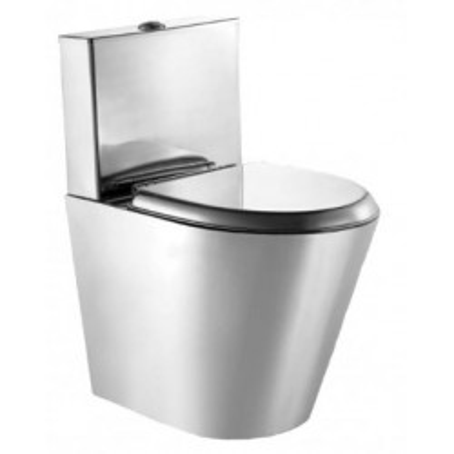 Унитаз Moeff напольный с водяным баком и металлическим сиденьем