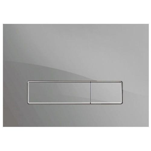 Клавиша смыва Mepa Orbit для A31, B31, стекло, серебристая