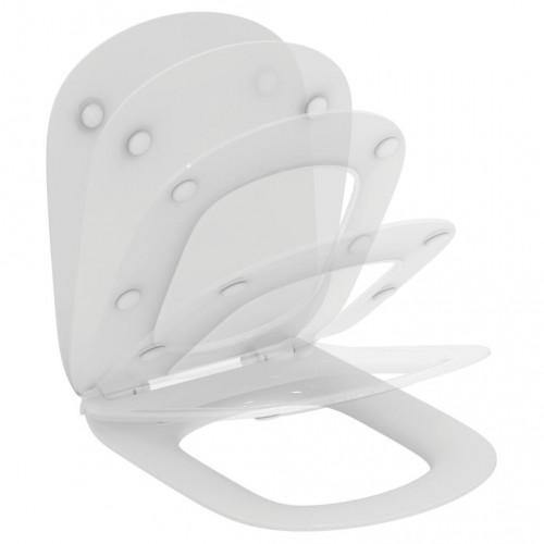 TESI тонкое сидение и крышка для унитаза, тип SANDWICH, с функцией плавного закрытия, Ideal Standard
