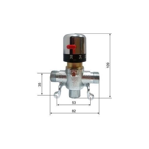 Автоматический смеситель с термо регулировкой для подготовки теплой воды HD (KR532 12D), Kopf