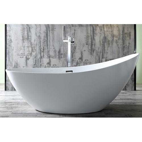 Акриловая отдельностоящая ванна 184х79см ABBER AB9233