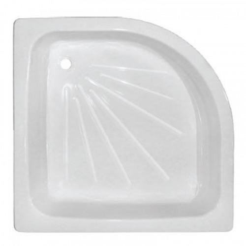 Поддон стальной эмалированный полукруглый 80 х 80 х 15 TIVOLI