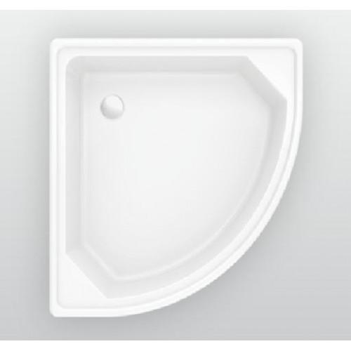 Душевой поддон 70 x 70 см, стальной, полукруглый, EUROPA CONOR, BLB