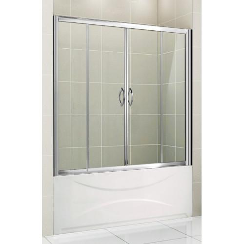 Шторка на ванну 150х150см Gemy S12192A