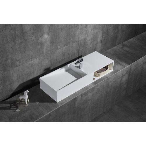 Раковина из искусственного камня 120х42х20см NT501 L, NT Bathroom