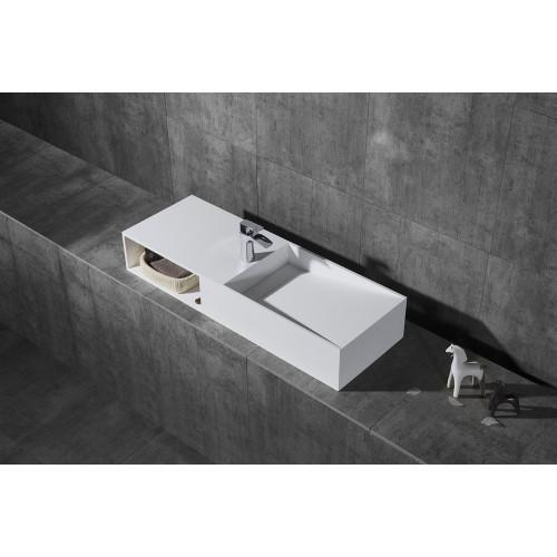 Раковина из искусственного камня 120х42х20см NT502 R, NT Bathroom
