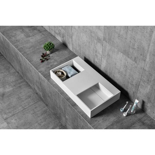 Раковина из искусственного камня 80х50х12см NT503, NT Bathroom