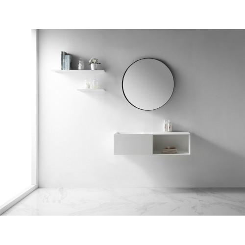 Раковина из искусственного камня 110х40х30см NT504 L, NT Bathroom