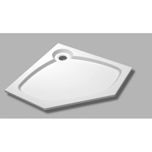 Душевой поддон из искусственного мрамора 100х100х5,6 TRAY-S-P-100-56-W, Cezares
