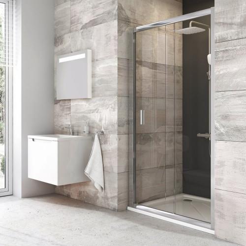 Душевая дверь BLDP2-120 блестящий + Транспарент, Ravak Blix