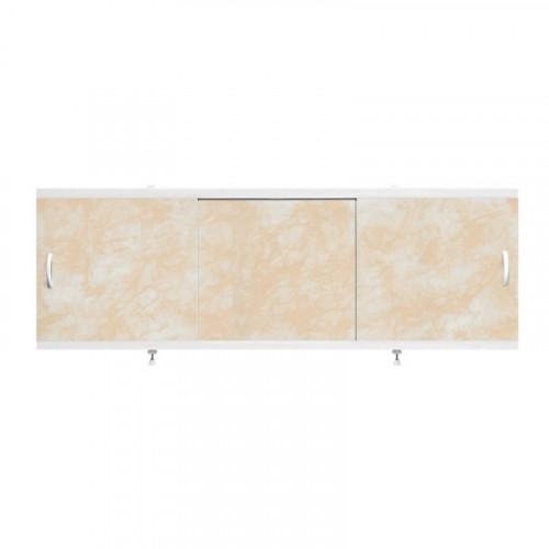 """Экран для ванн 1,5 м """"Оптима"""" пластик кремовый мрамор (2), Alavann"""
