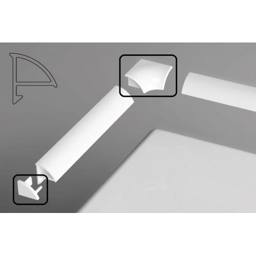 Набор (2 заглушки + 2 угловых соединения) для планки 6, Ravak