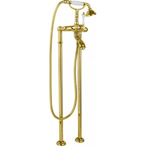 Напольный смеситель для ванны золото, MARGOT-VDP-03/24-Bi, Cezares