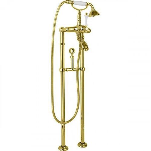 Напольный смеситель для ванны золото, MARGOT-VDPS-03/24-Bi, Cezares