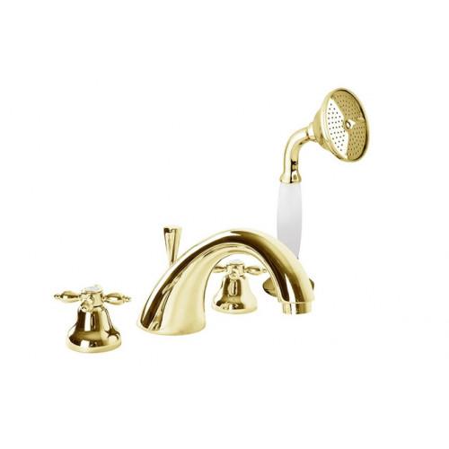 Смеситель на борт ванны золото, ATLANTIS-NOSTALGIA-BVD-03/24, Cezares