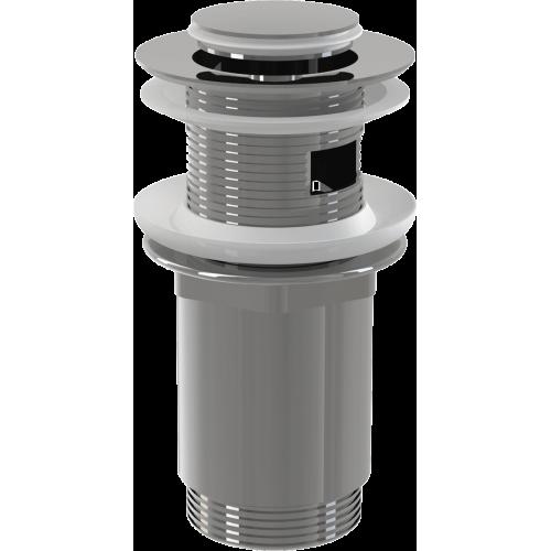 """A391 Донный клапан сифона для умывальника click/clack 5/4"""", цельнометаллический с переливом и малой заглушкой, Alca Plast"""