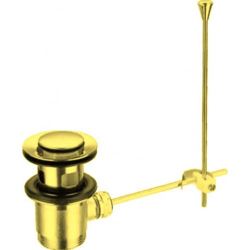 Донный клапан с переливом золото, CZR-SA2-03, Cezares