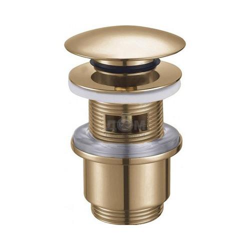 Донный клапан с системой Клик-Клак и с переливом бронза, CZR-SAT5-01, Cezares