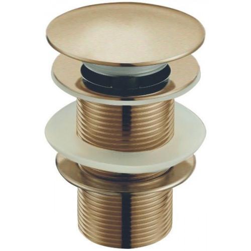 Донный клапан с системой Клик-Клак и с переливом бронза, CZR-SAT2-02, Cezares