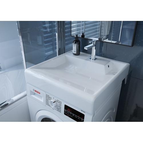 Умывальник Kirovit Престиж 60x60 см над стиральной машиной