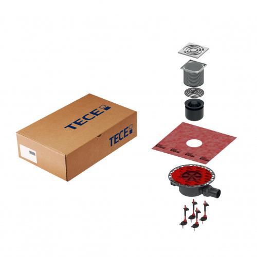 Комплект точечного трапа TECE KDP-S120 с сифоном DN 50, с декоративной решеткой