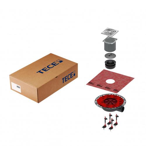 Комплект точечного трапа TECE KDP-S110 с сифоном DN 50, с декоративной решеткой