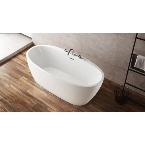 Ванна 150x80х60см отдельностоящая акриловая Belbagno BB404-1500-800