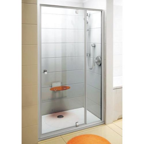 Дверь для душа Ravak Pivot PDOP2-100 Сатин/сатин, прозрачное стекло