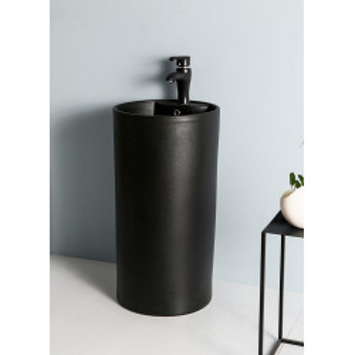 Напольная раковина черная 45x45x85 см, Gid, Nb135bg