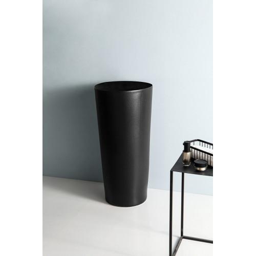 Напольная раковина черная 40x40x85 см, Gid, Nb130bg
