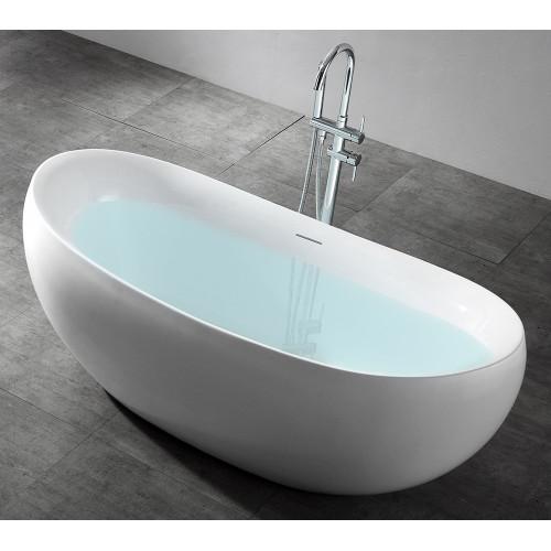 Акриловая отдельностоящая ванна 170x80см ABBER AB9236