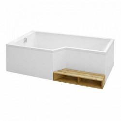 Ванна левосторонняя 160 х 90/70 см, BAIN-DOUCHE NEO, Jacob Delafon, E6D000L-00