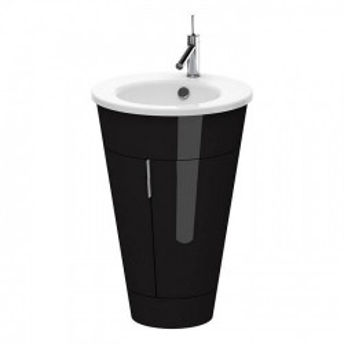 Тумба напольная, 56 см Duravit Starck 1, цвет черный, S1952004040