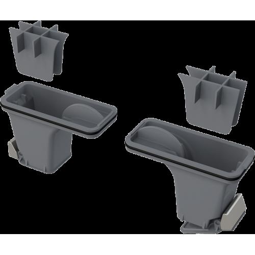 P095 комплект комбинированных гидрозатворов Alca Plast для нержавеющих желобов Alca