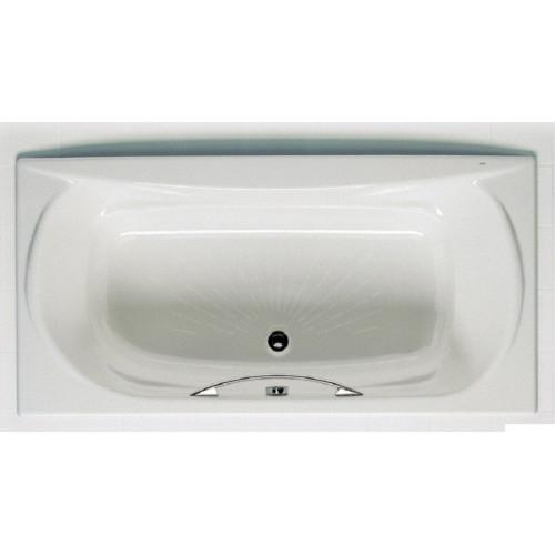 Чугунная ванна 170x85 с отверстиями для ручки + antislip, Akira, Roca
